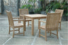 "Anderson Teak | Chicago Teak Armchair & Bahama 35"" Square Teak Table 
