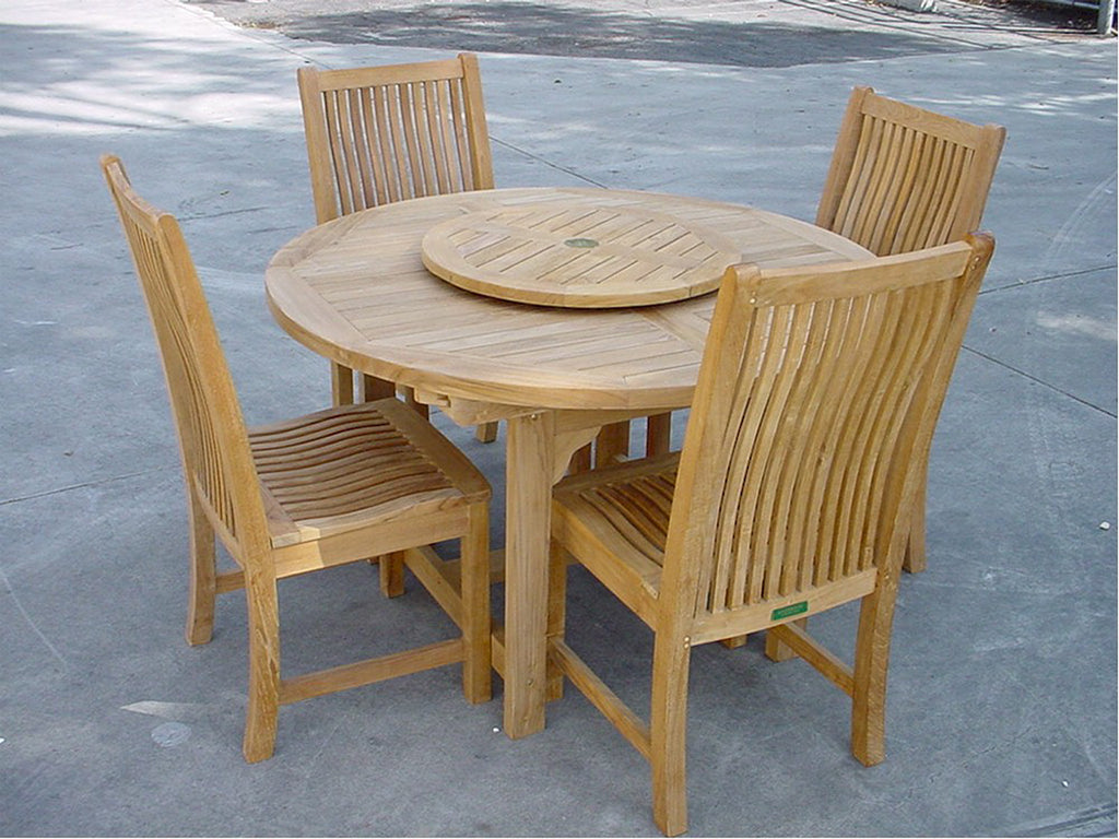Anderson Teak | 5-pc. Oval Extension Table & Dining Chairs Set |SET-12 -  Furniture - Teakwood Central