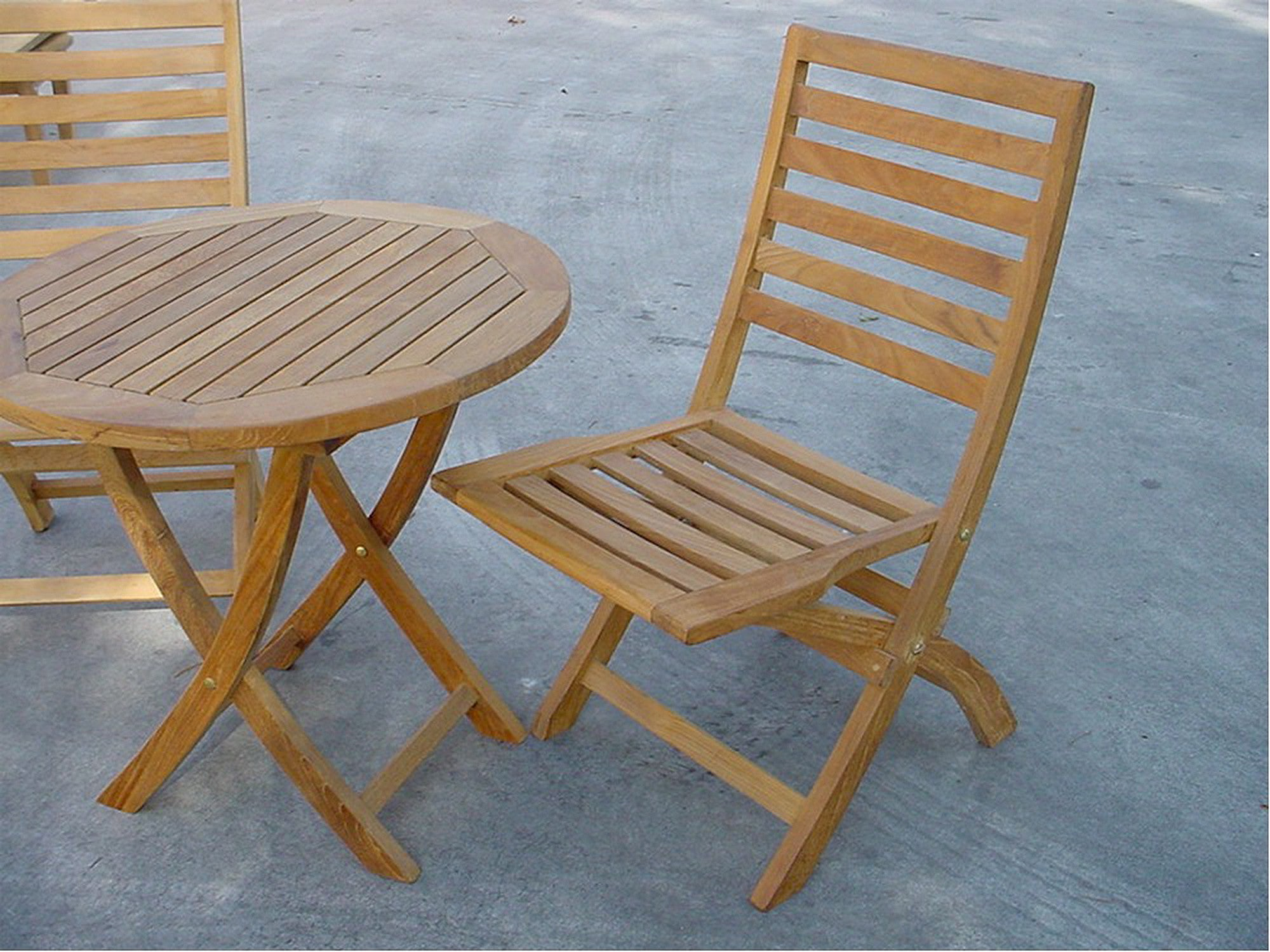 Picture of: Anderson Teak 27 Folding Table 2 Chairs Bistro Set Teakwood Central