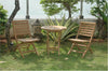 "Anderson Teak | 27"" Folding Table & 2 Chairs Bistro Set 