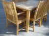 Anderson Teak | Rectangle Teak Extension Table /6 Chicago Chairs Set |SET-14 -  Furniture - Teakwood Central