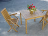 "*Anderson Teak | Bahama 35"" Square Table & Classic Folding Armchair 