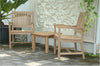 "Anderson Teak | 2 Rialto Armchairs Set with Bahama 20"" Mini Table 