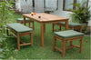 Table, Bench & Backless Chair Set by Chapman |SET-200 -  Furniture - Teakwood Central