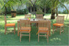 Chapman Collection Montage Saratoga Teak Patio Dining Set |SET-201 -  Furniture - Teakwood Central