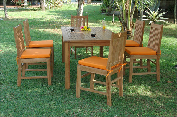 *Chapman Collection Montage Saratoga Teak Patio Dining Set |SET-201 -  Furniture - Teakwood Central
