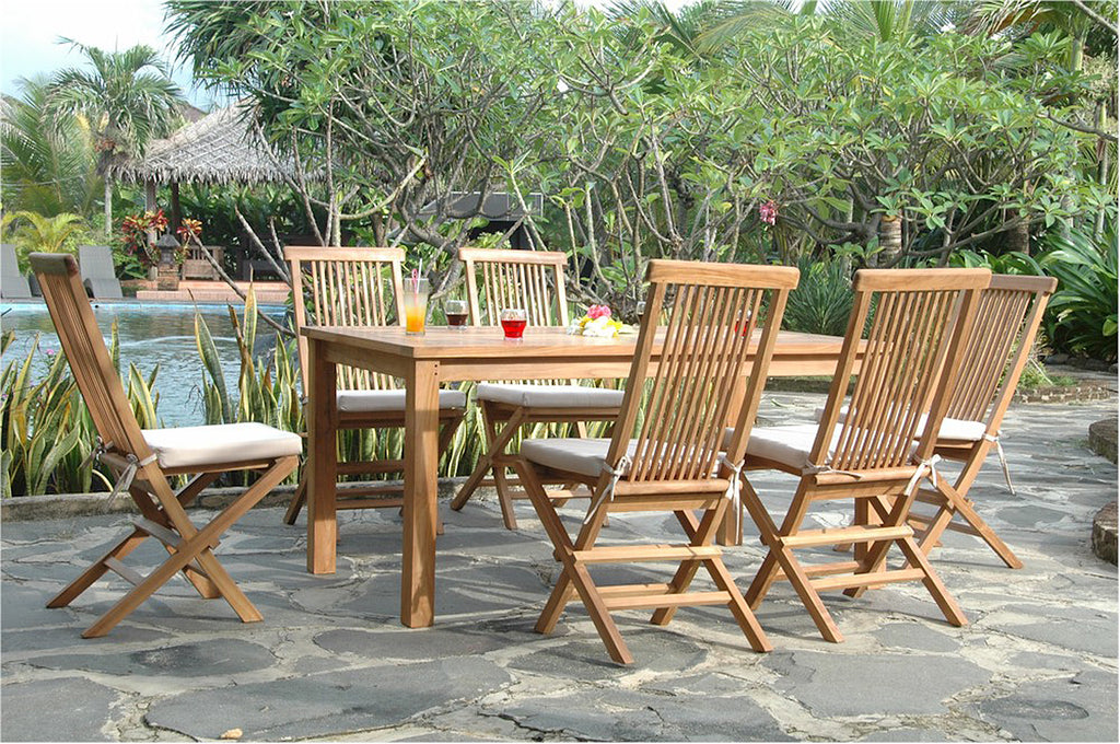 Chapman | Montage Bristol Teak Patio Dining Set |SET-202 -  Furniture - Teakwood Central
