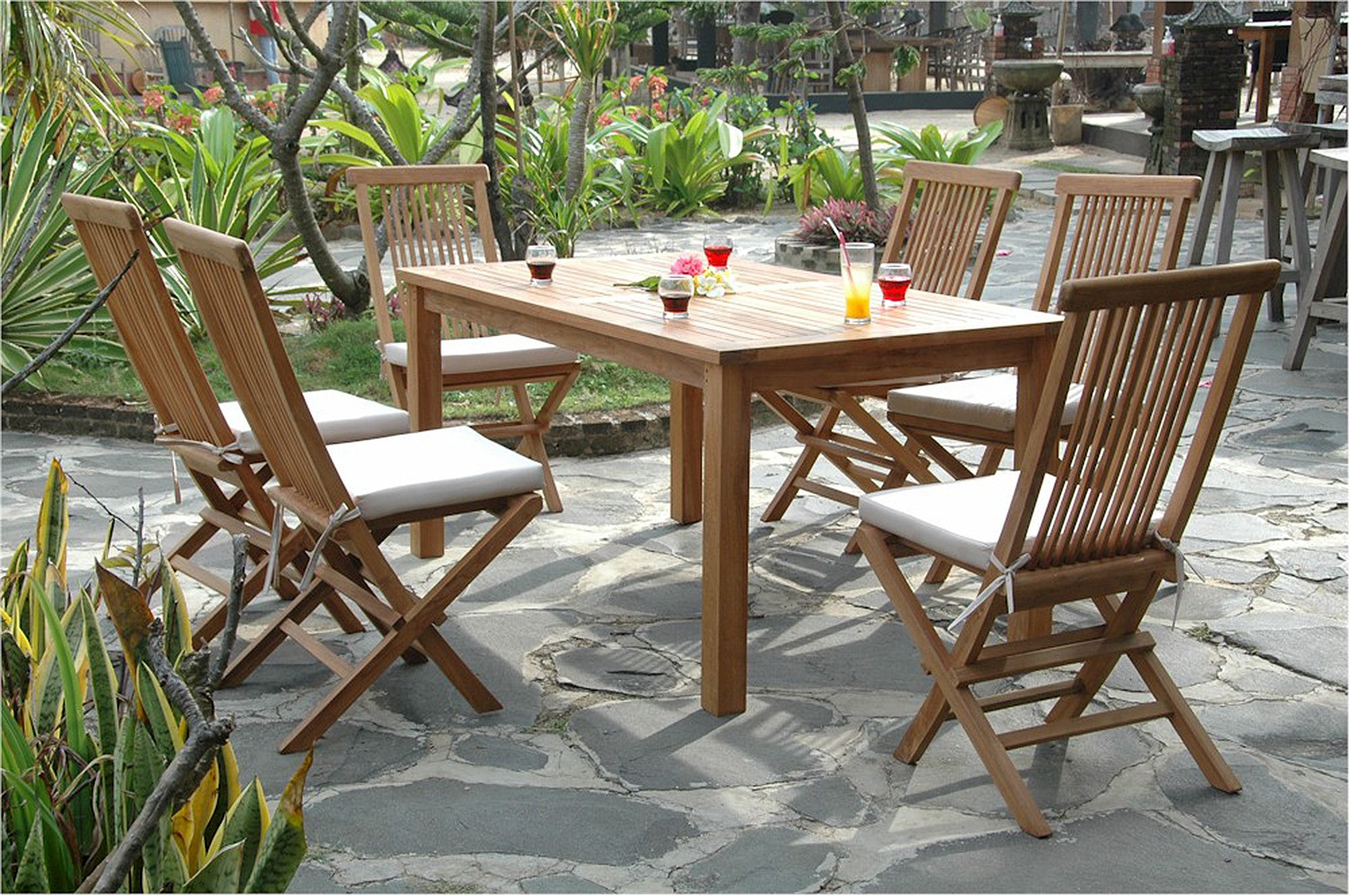 Chapman   Montage Bristol Teak Patio Dining Set  SET 202   Furniture    Teakwood. Montage Bristol Teak Patio Dining Set by Chapman Collections  Set