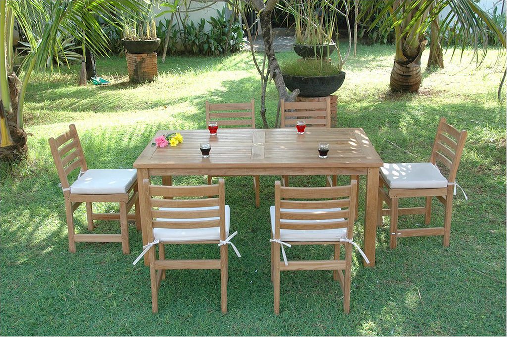 Chapman | Montage Windham Teak Patio Dining Set |SET-203 -  Furniture - Teakwood Central