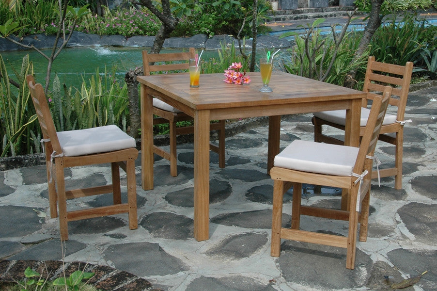 Chapman Montage 42 Inch Square Dining Teak Table Teakwood Central