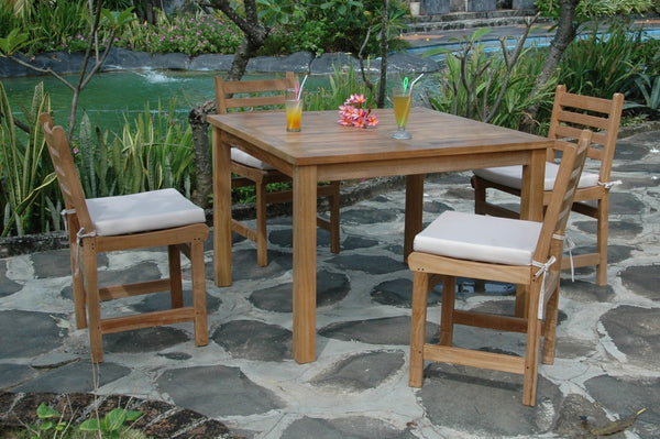 Montage 42 inch Square Dining Teak Table Only |TB-4242SQ -  Furniture - Teakwood Central