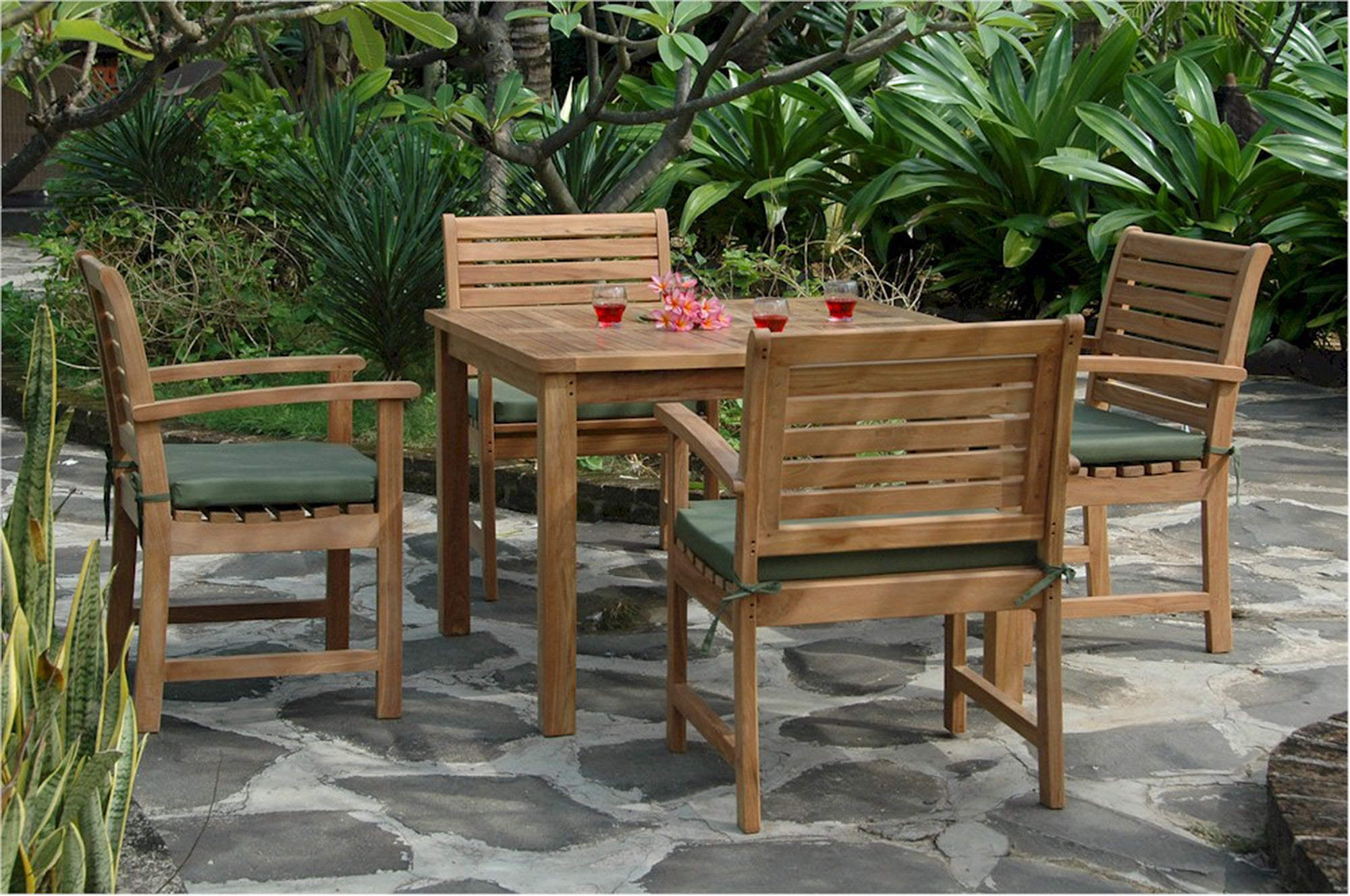 Anderson Montage Victoria Teak Patio Dining Set Collection Set