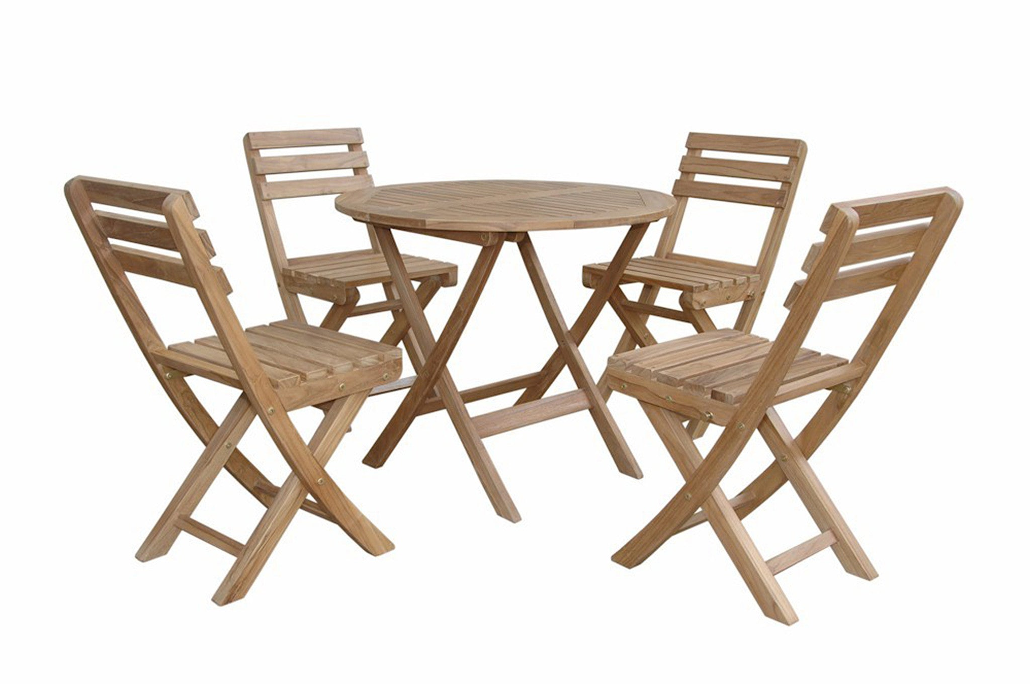 Anderson teak chester 32 picnic table w 4 folding armchairs by chapman