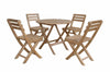 "Anderson Teak | Chester 32"" Picnic Table w/ 4 Folding Armchairs by Chapman 