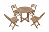 "Anderson Teak | Montage 35"" Round Table w/ 4 Folding Armchairs by Chapman 