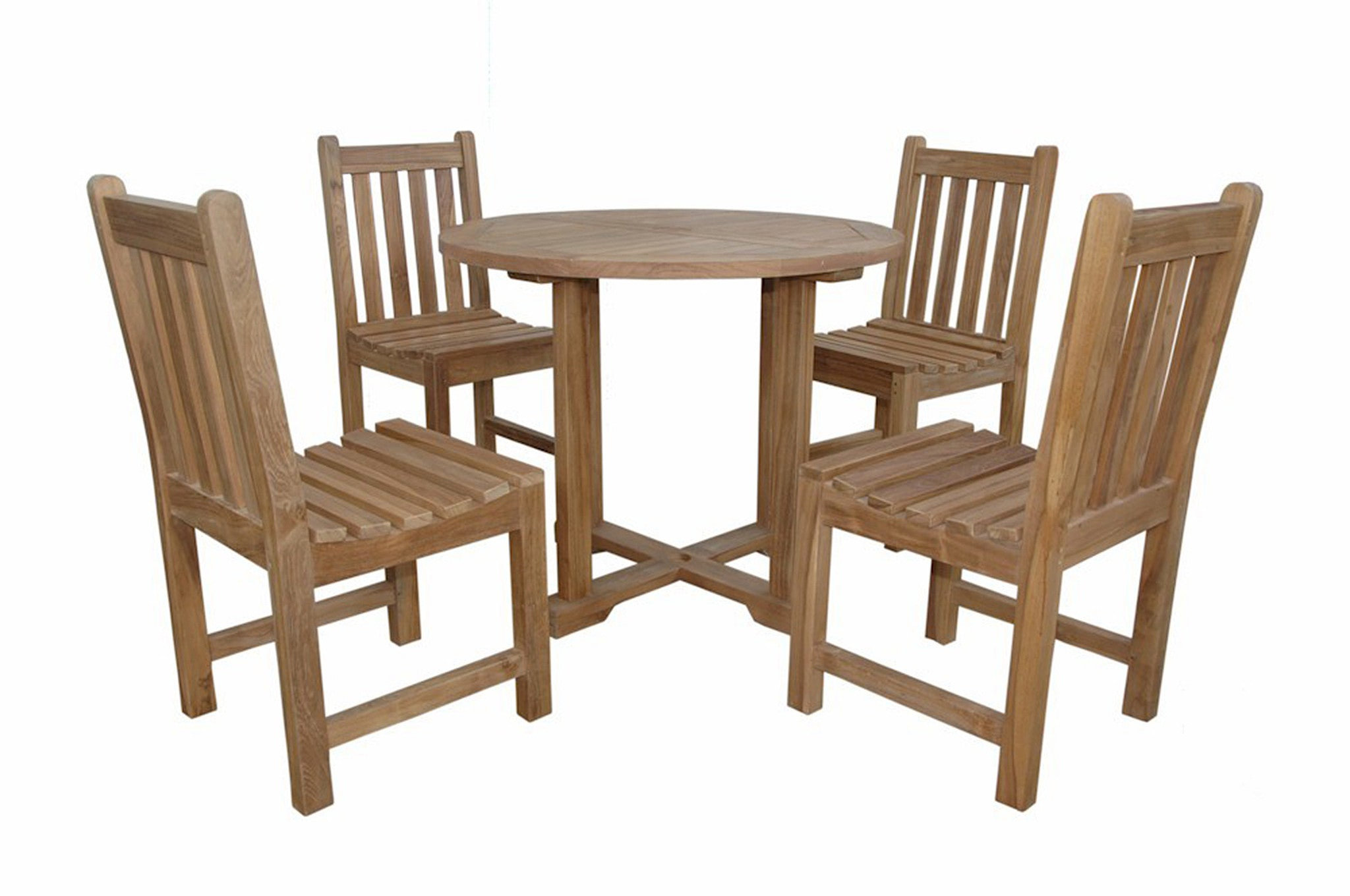 Anderson Teak Round Table W Dining Chairs By Chapman - Anderson round table