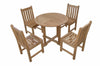 "Anderson Teak | Montage 35"" Round Table w/ 4 Dining Chairs by Chapman 