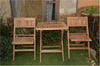 "Anderson Teak | Windsor 24"" Square Teak Folding Table & Chairs 