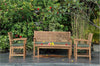 Chapman || 5-pc. Bench, Coffee Table & 2 Armchairs Teak Set |SET-230 -  Furniture - Teakwood Central