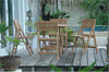 "*Anderson Teak | 31"" Round Teak Picnic Folding Table & 4 Chairs 