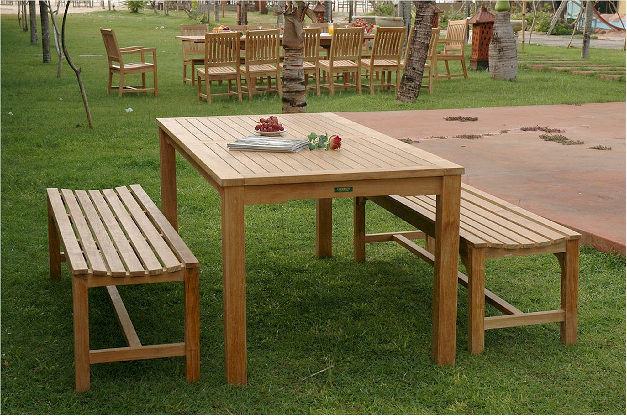 *Anderson Teak | Bahama Rectangular Table/Hampton Bench Dining Set |SET 31