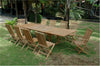Anderson Teak | 11 Piece Valencia Teak Patio Dining Set |SET-32B -  Furniture - Teakwood Central