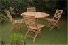 Anderson Teak | 5-Piece Round Table Teak Patio Dining Set |SET-35