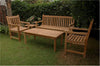 Anderson | Classic Teak Bench w/Armchairs and Coffee Table Set |SET-44 -  Furniture - Teakwood Central
