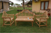 Malborough 3 Seat Teak Bench, Armchair and Coffee Table |SET-45