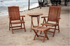 "Anderson Teak | Katana Reclining Chairs & 27"" Round Teak Table Set 