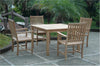 "Anderson Teak | 47"" Square Dining Table w/ 4 Armchairs 