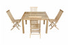 "Anderson Teak | 47"" Square Dining Table w/ 4 Folding Chairs 