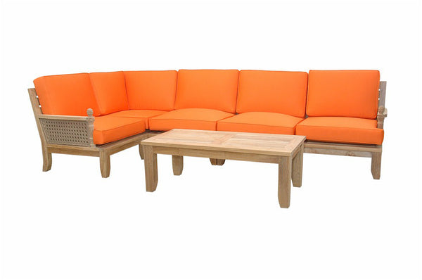 Luxe Modular Deep Seating 6 pc Set w/Cushion Color Choice  |SET-72 -  Furniture - Teakwood Central