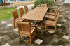 "Anderson Teak | 118"" Rectangular Extension Table w/ 8 Dining Chairs 