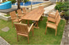 "Anderson Teak | 94"" Rectangular Extension Table w/ 8 Stacking Armchairs 