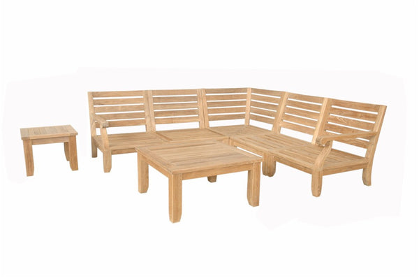 Anderson Teak | Riviera Luxe Modular 7pc Collection |SET-96 -  Furniture - Teakwood Central