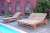 Bel Air Set of 2 Teak Double Sun Loungers   |SET-48 -  Furniture - Teakwood Central
