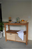 Teak Towel Console Table with Two Shelves  by Chapman |SPA-4720 -  Bathroom - Teakwood Central