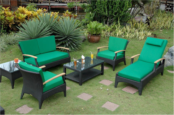Anderson Wicker | Bellagio Deep Seating Wicker Collection Set |SR-016DS -  Furniture - Teakwood Central