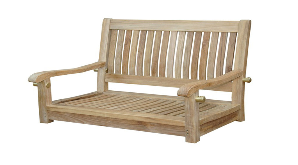 "Anderson Teak | Del-Amo 48"" Straight-Back Teak Garden Swing 