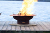 "Fire Pit Art | Saturn 40"" Artisan Made 1/4"" Thick Carbon Steel Fire Pit (FPA-SAT) -  Fire Pits - Teakwood Central"