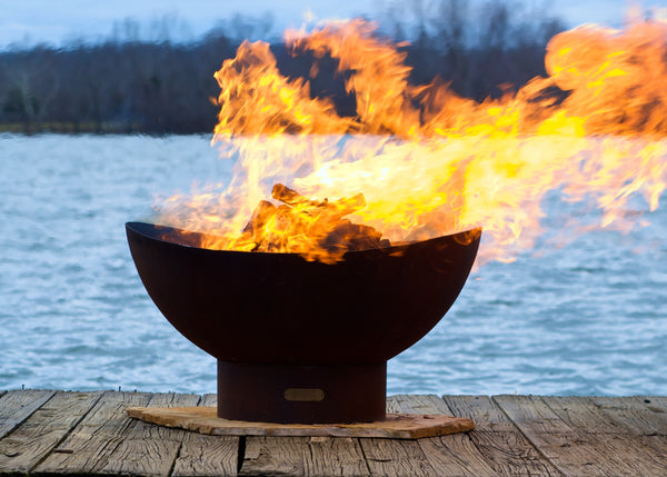 "Fire Pit Art | Scallops 36"" Artisan Carbon Steel Fire Pit (FPA-SCA) -  Fire Pits - Teakwood Central"