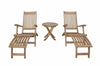 "Anderson Teak | Tropicana Steamer Set w/ 20"" Round Folding Table 