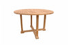 Anderson Teak | Tosca 4 Foot Round Teak Table with Frame |TB-004RF -  Furniture - Teakwood Central