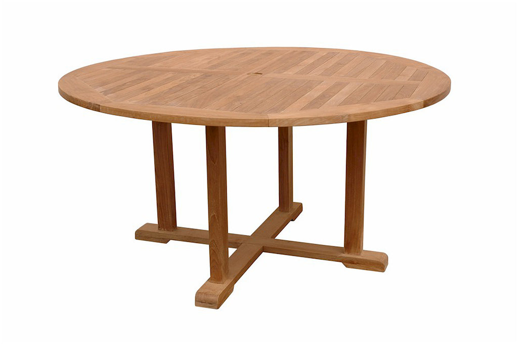 "Anderson Teak | Tosca 59"" Round Dining Teak Table 