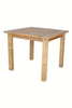 "Windsor 35"" Square Bistro Teak Table Small Slats 