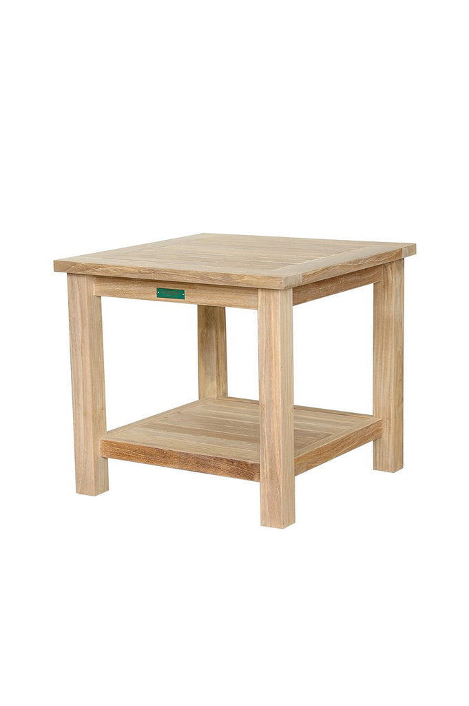 Anderson Teak | Bahama 22 inch Square Side Teak Table 2-Tier |TB-222S -  Furniture - Teakwood Central