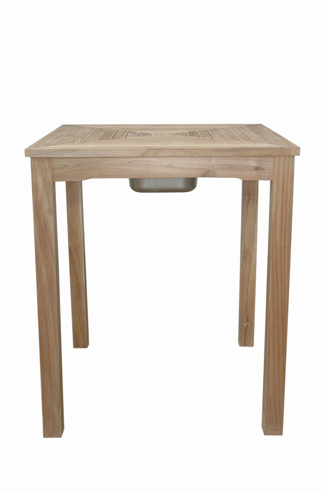 Anderson Teak | Chatsworth Ice Chiller Bar Table |TB 3636BT   Furniture    Teakwood