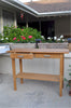Rectangular Serving Teak Table w/ Drawers & Bottom Shelf |TB-4717ST -  Furniture - Teakwood Central