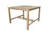 "Anderson Teak | Windsor 59"" Square Teak Bar Table & 8 Bar Chairs 